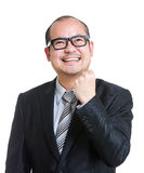 Balding cheerful mature businessman Stock Photos