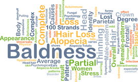 Baldness background concept Royalty Free Stock Images