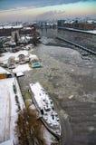 Baldoria a Berlino nell'orario invernale 8 Fotografia Stock Libera da Diritti