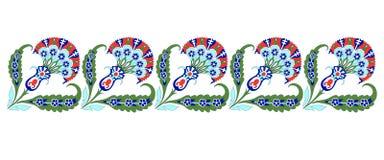 Baldosa cerámica de la decoración turca del ornamento, Islam oriental del modelo stock de ilustración