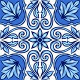 Baldosa cerámica del azulejo portugués stock de ilustración