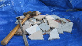 Baldosa cerámica demalished Fotos de archivo libres de regalías