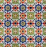 Baldosa cerámica del vintage marroquí del estilo de Spanich Fotos de archivo libres de regalías