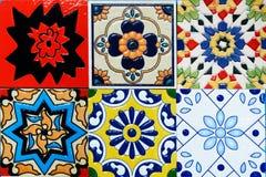Baldosa cerámica del vintage marroquí del estilo de Spanich Foto de archivo libre de regalías