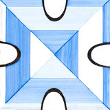 Baldosas cerámicas azules Fotografía de archivo libre de regalías