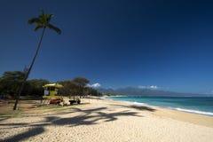 Baldwin Beach norr kust, Maui, Hawaii arkivfoton
