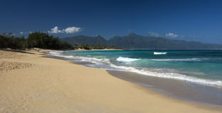 Baldwin Beach, rivage du nord, Maui, Hawaï Photos libres de droits