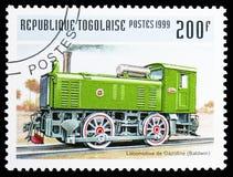 Baldwin bensinlokomotiv, lokomotivserie, circa 1999 royaltyfria foton