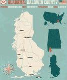 Baldwin County in Alabama USA Stock Image