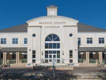 Baldwin County Courthouse in Baai Minette Alabama Royalty-vrije Stock Afbeelding