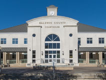 Baldwin County Courthouse i fjärden Minette Alabama Royaltyfri Bild
