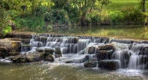 Baldwin Lake Dam Waterfall. The waterfall at Baldwin Lake Dam in Cuyahoga County, Ohio. Located in Mill Stream Run Reservation near Berea Ohio. The site of a stock photo