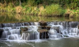 Baldwin Lake Dam Waterfall. The waterfall at Baldwin Lake Dam in Cuyahoga County, Ohio. Located in Mill Stream Run Reservation near Berea Ohio. The site of a royalty free stock photography
