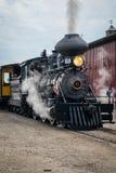 Baldwin Steam Engine na reunião velha das debulhadoras de Midwest, Mt Agradável, Iowa, EUA imagens de stock royalty free