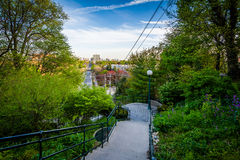 The Baldwin Steps at Spadina Park, in Midtown Toronto, Ontario. Royalty Free Stock Photos