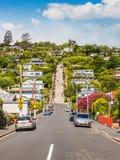 Baldwin Street Dunedin, Otago, Nya Zeeland fotografering för bildbyråer