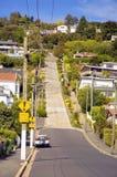 Baldwin Street världens mest steepest gata i Dunedin, Otago, södra ö, Nya Zeeland arkivbilder