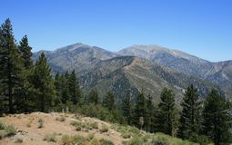 Baldy Panorama. Panoramic view of the San Gabriel Mountains, California Royalty Free Stock Photography