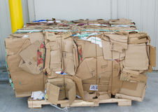 Cardboard and Paper Recycling Royalty Free Stock Photo