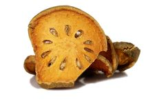 Bale Fruit dried tee. Isolated on white. Royalty Free Stock Photography