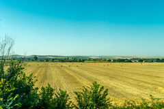 Bale of Hay on a field on the outskirts of Cordoba, Spain, Europ Royalty Free Stock Photos