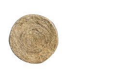 Bale of hay isolated on a white background, clipping path included, copyspace.  stock images