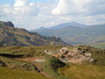 In between the Bale mountains Stock Photography