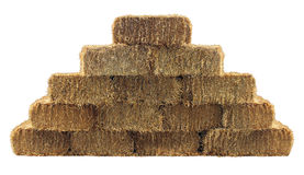 Bale Of Hay Wall Royalty Free Stock Photo