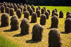Bale Of Straw In The Tirolean Alps Stock Photos