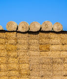 Bale of straw in autumn Royalty Free Stock Photography