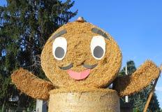 Bale of straw cartoon. A bale of straw made like a cartoon Stock Image