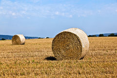 Bale of straw Stock Photos