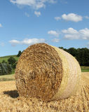 Bale of straw in front of blue sky Stock Photography