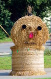 Bale of straw like a face Stock Photos