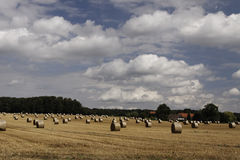 Bale of straw in Lower Saxony, Germany Royalty Free Stock Photos