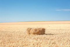 Bale of straw 1 Royalty Free Stock Photo
