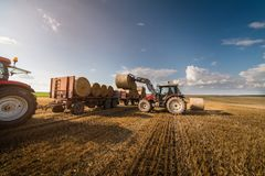 Bale on tractor trailer Royalty Free Stock Photo