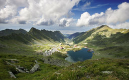 balea湖横向罗马尼亚 免版税库存图片