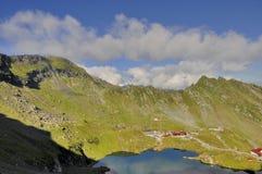 Balea alpejski jeziorny kurort - odgórny widok Obrazy Stock