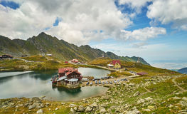 Balea Cabin on Mountain Lake Royalty Free Stock Photos