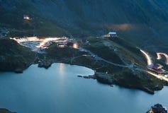 Balea glacier lake at night Royalty Free Stock Photography