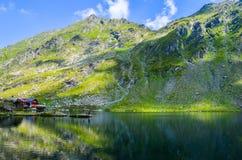 Balea Glacier Lake, Romania royalty free stock photography