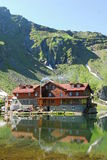 Balea lac. The Bâlea Lake is a glacier lake situated at 2,034 m of altitude in the Făgăraş Mountains, in central Romania, in Sibiu County. It is accessible Royalty Free Stock Photography