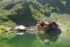 Balea lac. The Bâlea Lake is a glacier lake situated at 2,034 m of altitude in the Făgăraş Mountains, in central Romania, in Sibiu County. It is accessible Stock Images