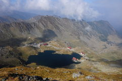 Balea Lake. Trip in Fagaras Mountains, in september Royalty Free Stock Photography