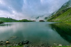 Balea lake-alpine lake resort Stock Photography