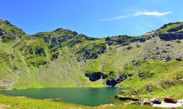Balea lake - Carpathians mountains Royalty Free Stock Photography
