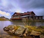 Balea Lake Chalet Mountain Landscape Royalty Free Stock Image