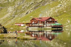 Balea Lake chalet Royalty Free Stock Images
