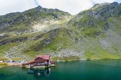 Balea Lake, Fagaras mountaines, Romania Stock Image